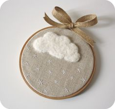 Christmas gift this year -- tiny embroidery hoop ornaments. Embroidery Hoop Art, Cross Stitch Embroidery, Embroidery Patterns, Cross Stitch Patterns, Deco Kids, Unique Wall Art, Crafty Craft, Handicraft, Needlework