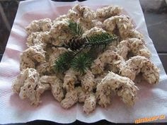 Czech Recipes, Pavlova, Macaroons, Meringue, Christmas Cookies, Baking Recipes, Herbs, Sweets, Chicken