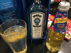 Day 10 of 366 drinks in 2016. Bombay Sapphire Gin with Schweppes Orange, Grapefruit and Bitters.