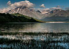 #Lago di #Campotosto e il #Gran #Sasso #parco #nazionale del Gran Sasso e #monti della #Laga #paesaggio #landscape @mountain #acqua #water #mountain