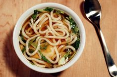 Quick Recipe: Udon Soup with Bok Choy and Poached Egg