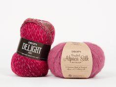 DROPS Delight - Eine weiche und spannende superwash behandelte Wolle! Drops Delight, Garne, Alpaca, Crochet, Knitted Hats, Knitting, Color, Design, Raspberry Tarts