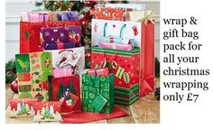 Wrap and gift bag pack.