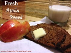 Fresh apple bread.  We made this the other night and one of the loaves didn't even make it off the cooling rack before we devoured it.  Absolutely delicious and a great holiday gift idea when you make it into mini loaves.