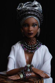 25 ideas fashion african american barbie dolls for 2019 African Dolls, African American Dolls, Barbie Style, Afro, African Beauty, African Fashion, African Hair, Kevlar Jeans, Diva Dolls