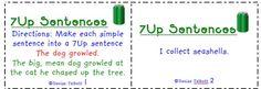 Task Card Freebie | 7-up sentences (sentence structure