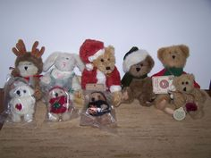 Lot Of 9 Boyds Bears Bunny & Bears Ornaments Small Size