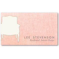 Elegant Interior Designer Business Card By Sm Cards