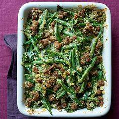Green Bean Casserole with Crispy Sausage Recipe - Woman's Day