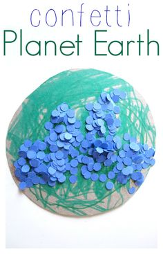 Make confetti with a hole punch which is great for hand strength, then use it for a fun recycled earth day craft.