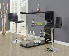 Monarch 2367 - Black Bentwood/ Chrome Hydraulic Lift Barstool 2 Pieces | Sale Price: $169.00