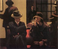 "Jack Vettriano ""Big Bert's Favorite Girl"" - very film noir"