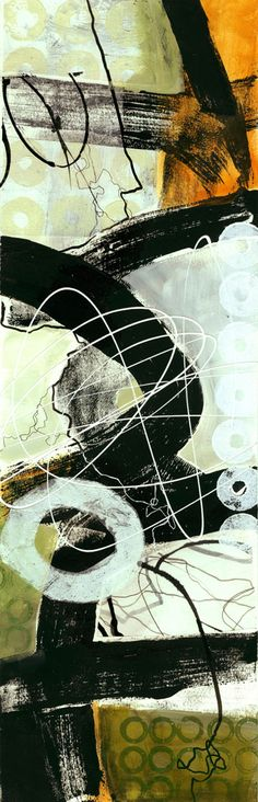 collage journeys: vertical format by Jane Davies - 7x22""