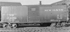New Haven Double Sheathed Wood Box Car 172050 New Haven Connecticut, Railroad Pictures, Electric Train, Speed Training, Rolling Stock, Steam Locomotive, Model Trains, Division, Transportation