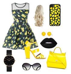 """En jaune et noir...."" by fantine-bugeaud on Polyvore featuring mode, Laurence Dacade, Dolce&Gabbana, Casetify, Kim Rogers et CLUSE"
