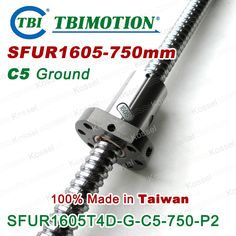 ==> [Free Shipping] Buy Best TBI 1605 C5 750mm ball screw 5mm lead with SFU1605 ballnut Ground for high precision CNC diy kit SFU set Online with LOWEST Price | 32450806942