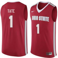 94cff222cce Men  1 Jae Sean Tate Ohio State Buckeyes College Basketball Jerseys Sale-Red