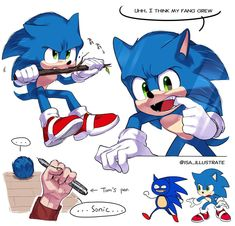 Sonic The Hedgehog by Sonic The Hedgehog, Hedgehog Movie, Hedgehog Art, Silver The Hedgehog, Shadow The Hedgehog, Sonic Funny, Sonic 3, Sonic And Amy, Sonic And Shadow