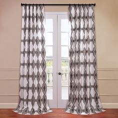 Half Price Drapes Sorong Printed Cotton Curtain Panel