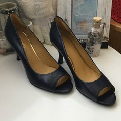 Nine West navy blue 2in heels. Navy blue patent leather 2in heels. Excellent condition. Worn once. Nine West Shoes Heels