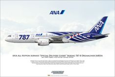 ANA All Nippon Airways Special Delivery Livery Boeing Dreamliner Uk Digital, Digital Prints, Boeing 787 8, Boeing Aircraft, Ana Airlines, Special Delivery, Free Delivery, Airplane Photography, Commercial Aircraft