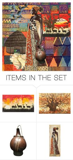 """Out of Africa"" by synkopika ❤ liked on Polyvore featuring art"