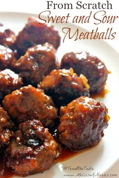 Need a finger licking good supper? Learn how to make sweet and sour meatballs from scratch with this recipe. I love that the sauce can be made with different jellies for a slightly different flavor. and the gluten free options.