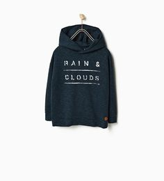 "ZARA - SALE - SWEATSHIRT ""RAIN & CLOUDS"""