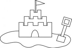 Beach sand castles pool and art images on clip art Castle Coloring Page, Beach Coloring Pages, Spring Coloring Pages, Cool Coloring Pages, Coloring Pages To Print, Beach Sand Castles, Public Domain Clip Art, Castle Drawing, Simple Line Drawings