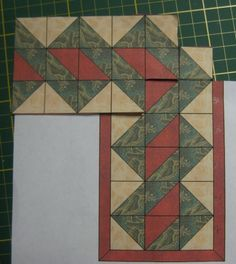 This photograph (border with hst crafts quilting quilt boarders quilt Interesting Triangle Quilt Border Pattern Gallery) prec Quilting Tutorials, Quilting Projects, Quilting Designs, Quilting Ideas, Half Square Triangle Quilts, Square Quilt, Border Pattern, Border Design, Quilt Block Patterns