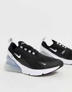 Buy Nike Black And White Air Max 270 Trainers at ASOS. With free delivery and return options (Ts&Cs apply), online shopping has never been so easy. Get the latest trends with ASOS now. Skechers, Nikes Negros, Nike Air Max, Air Max Sneakers, Sneakers Nike, Asos, Plimsolls, Nike Flyknit, How To Make Shoes