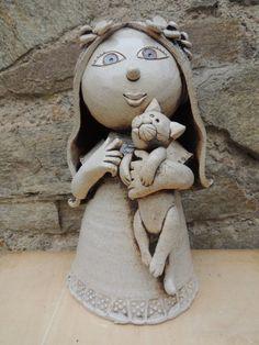 Panenka Bird Doodle, Michaela, Ooak Dolls, Garden Sculpture, Doodles, Teddy Bear, Clay, Statue, Toys