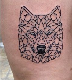 Tattoo types and their features: new objects in the world of tattooing and unusu… – Tattoo Styles & Tattoo Placement Geometric Tattoo Inspiration, Geometric Wolf Tattoo, Geometric Sleeve Tattoo, Sleeve Tattoos, Wolf Tattoos, Animal Tattoos, Tatoos, Alchemy Tattoo, Tattoo Motive
