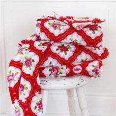 PiP Studio Flower Medallion Hand Towel, Red
