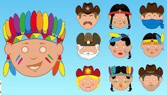 Maskerboek: cowboys en indianen | Juffrouw Stip
