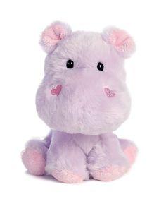 AURORA Plush Stuffed Animal Wobbly Bobblees Valentine Purple 07779 HAPPY HIPPO #Aurora