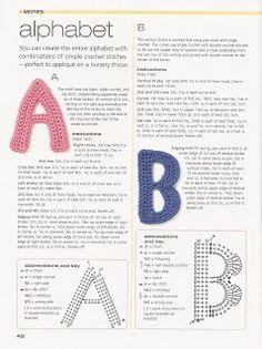 """"""" MOSSITA BELLA PATRONES Y GRÁFICOS CROCHET """": Crochet Alphabet, Alfabeto en Crochet"""