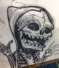 Freundliche Gebeine   :) Freundlich, Sketching, Skull, Tattoos, Irezumi, Tattoo, Tattoo Illustration, Sketches, Tekenen