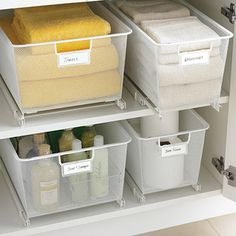 """With our Cabinet-Sized elfa Mesh Easy Glider™ Solution, organizational bliss is at your fingertips.  It creates accessible storage in lower cabinets (measuring 17"""" to 21""""). The fine weave of the mesh prevents small items from falling through.  Installation is quick and easy with the included hardware.  For cabinets measuring than 21"""" deep or more, try our <a href=""""/shop/elfa/bestSellingSolutions/drawerSystems?productId=10009302&N=68564&Nao=50"""">Mesh Easy Gliders™</a>."""