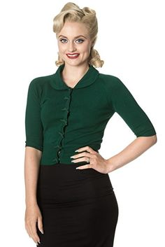 Banned April Shortsleeve Cardigan - 7 Colours Available - Dark Green XL  Colours 24ad5adbea