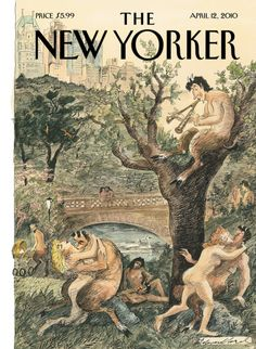 "The New Yorker - Monday, April 2010 - Issue # 4352 - Vol. 86 - N° 8 - Cover ""Spring Has Sprung"" by Edward Sorel The New Yorker, New Yorker Covers, Thing 1, Magazine Art, Magazine Covers, Spring Has Sprung, Vintage Magazines, Vintage Comics, New Art"