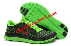 Womens Nike Free 3.0 V4 Anthracite Fireberry Electric Green Shoes