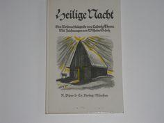 Vintage Belletristik - Heilige Nacht - Weihnachtslegende von Ludwig Thoma - ein Designerstück von allesfuermich bei DaWanda