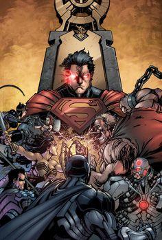 Injustice Gods Among Us #1_V2   Art: Jheremy Raapack  Colors: Tony Avina