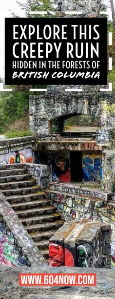 What was once the promising Deertrail Resort in BC is now an eerie ruins that is nestled in the forest of Potholes Provincial Park. Vancouver Travel, Vancouver Island, The Places Youll Go, Places To See, British Columbia, Columbia Travel, Travel Goals, Travel Tips, Canada Destinations