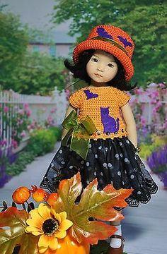 "OOAK OUTFIT FOR DOLLS Little Darlings Effner 13"" ""Halloween"""