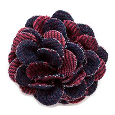 Lanai Large Lapel Flower | CuffLinks.com | Hook & Albert