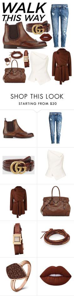 """""""Sin título #69"""" by danielatrer ❤ liked on Polyvore featuring H by Hudson, H&M, Gucci, Roland Mouret, Harris Wharf London, Ralph Lauren, Chan Luu, H.Azeem and Lime Crime"""