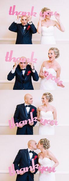 Thank You Wedding Sign Photo Prop for Wedding Thank You Cutout Photo Prop - Wedding Thank You Card Prop (Item - TYU100)