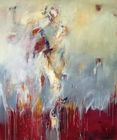 "Saatchi Art Artist Mary Souza; Painting, ""Muse Through Red"" #art"